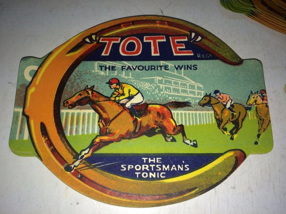 100 Vintage 1930's NOS Horse Racing Tote Sportsman's Tonic Soda Bottle Labels