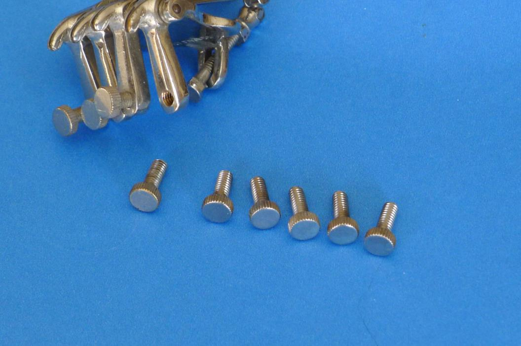 Oettinger Banjo Tailpiece Replacement Thumbcrews - Nickel Plated