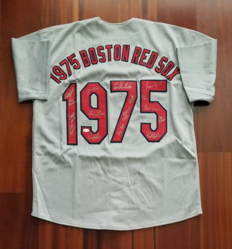 1975 Boston Red Sox Team Autographed Signed Jersey JSA