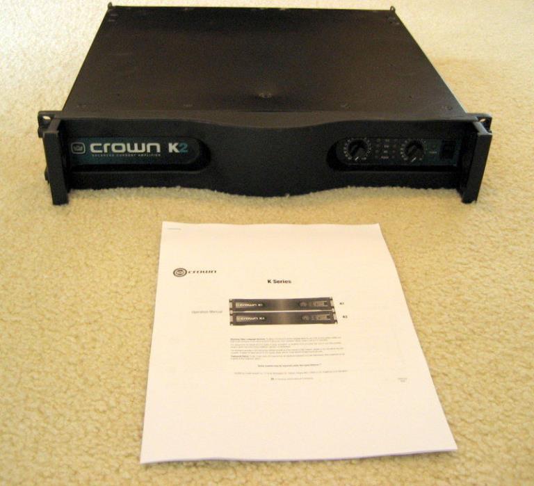 Crown K2 Professional Balanced Current Amplifier - 2500 Watts Bridged mono