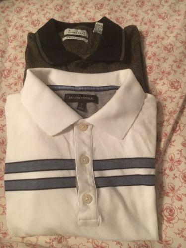 Lot Of 2 Men's Designer Polo Shirts Size L