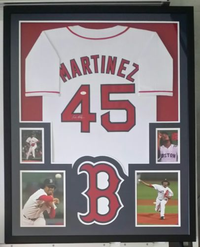 Pedro Martinez Autographed Signed Jersey Framed Boston Red Sox JSA