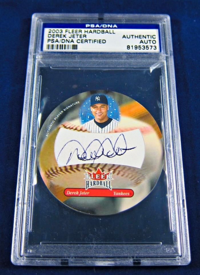 2003 Derek Jeter Autographed Fleer Hardball PSA/DNA Card
