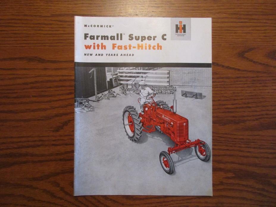 McCormick Farmall Original Super C with Fast-Hich Color Sales Brochure