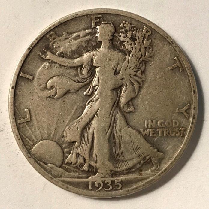 1935-S WALKING LIBERTY HALF DOLLAR FINE