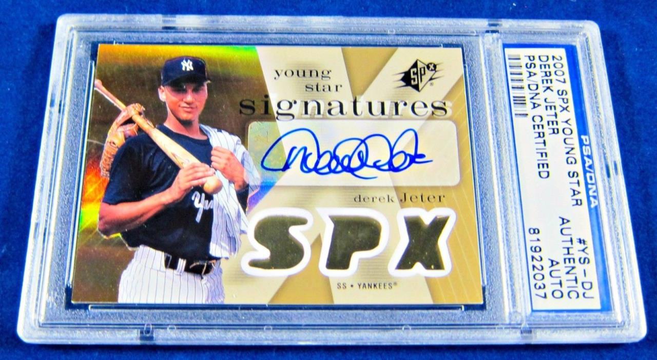 2007 Derek Jeter Autographed SPX Young Star PSA/DNA Card