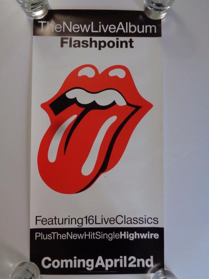 ROLLING STONES FLASHPOINT 1991 PROMOTIONAL POSTER 12