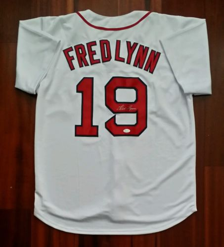 Fred Lynn Autographed Signed Jersey Boston Red Sox JSA