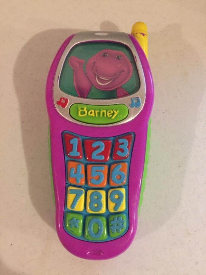 Mattel 2002 Barney the Dinosaur Electronic Toy Cell Phone *RARE*