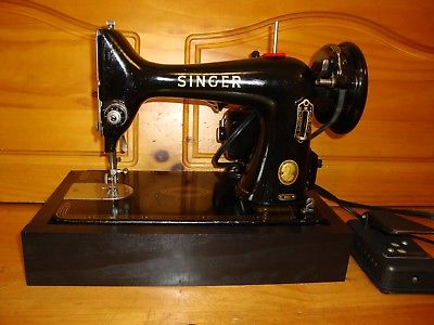 VINTAGE SINGER SEWING MACHINE 99K ,HEAVY DUTY  ,FULLY SERVICED