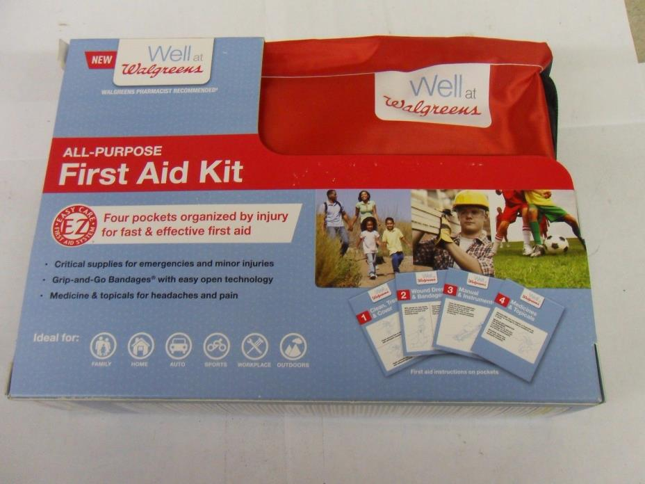 NEW All-Purpose First Aid Kit - Walgreens - Car - Travel - Backpacking - Camping