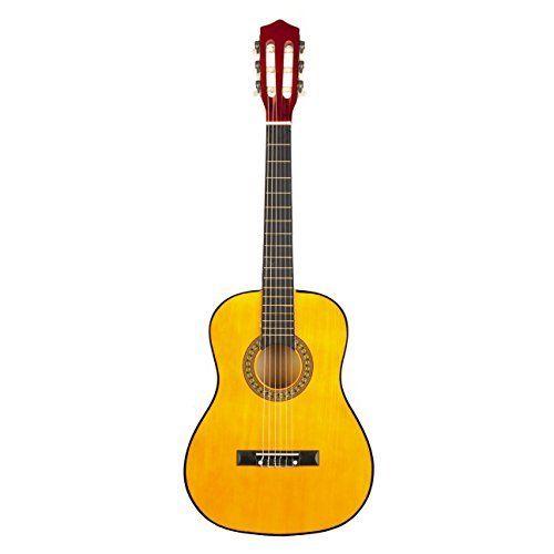 Acoustic Guitars String Music Beginner Instrument Classical Junior Yellow