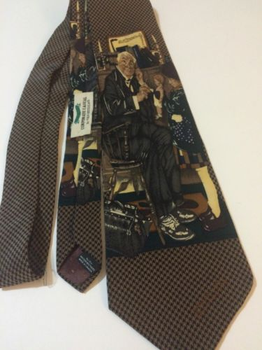 NORMAN ROCKWELL  Saturday Evening Post 1995 Neck Tie All Silk
