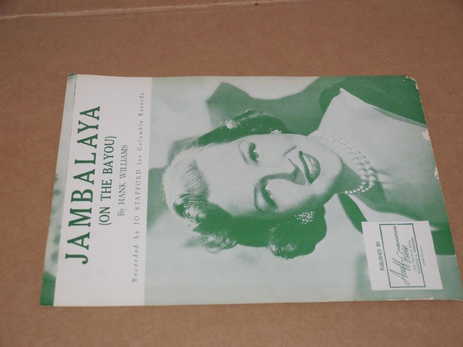 Sheet Music Jambalaya ( On The Bayou ) 1952