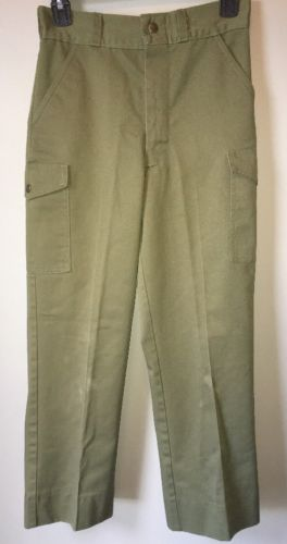 Boy Scout Uniform Olive Green Pants Size 12 Waist 26 Inseam 25.5-28 Very Good