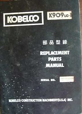 KOBELCO 909 Replacement Parts Manual