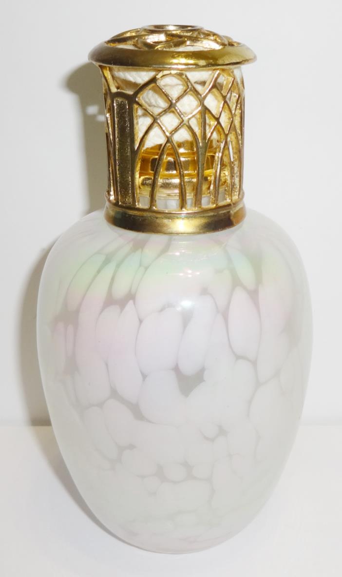 Lampe Avenue Fragrance Lamp Oil Burner Iridescent Opalescent Blown Glass Bottle