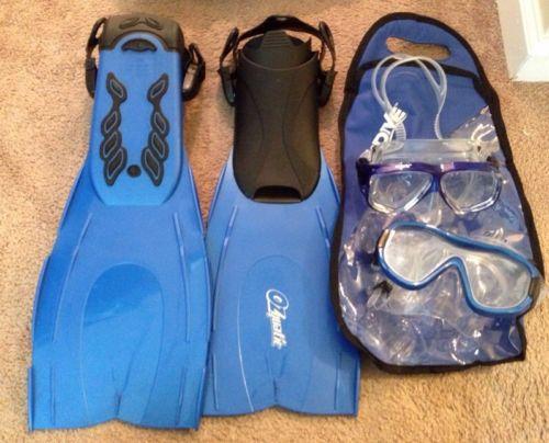 2DIVING masks& snorkels  & pair of fins