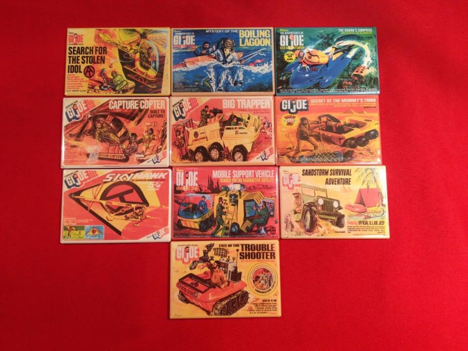 ** 1964-1976 GI JOE CANADA ** New GI Joe Adventure Team Fridge Magnets Vehicles