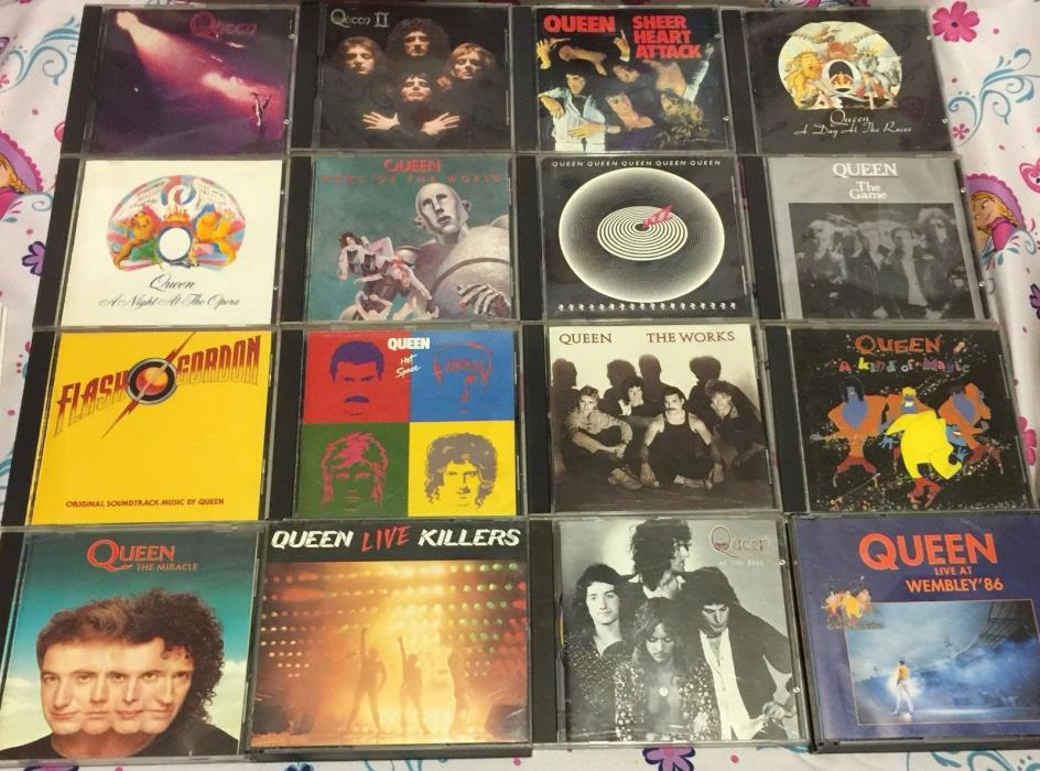 Queen Rock CD Lot of 12 Freddy Mercury Sheer Heart Attack Day Races Night Opera