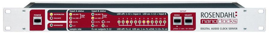 Rosendahl Nanoclocks Word Clock Distributor 44khz-192khz x12