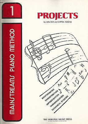 Mainstreams Piano Method Projects PROJECTS- book 1 Noona 1973 Heritage*