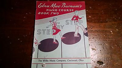 Lot of Two Edna Mae Burnam's Piano Course Book Two Book Four Step By Step