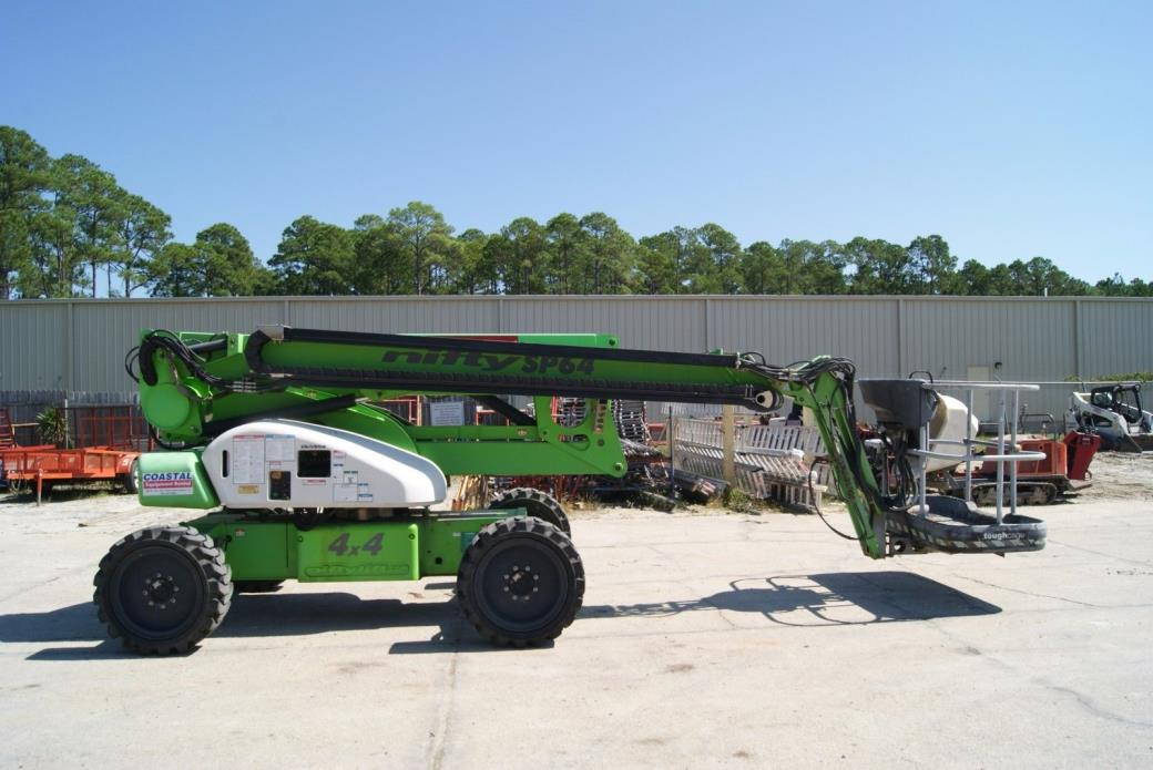 2012 Niftylift SP64 4x4 Diesel Self Propelled Articulating Boom Lift w/ 4' jib