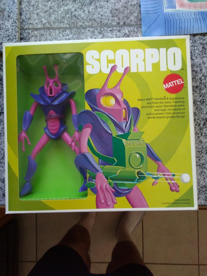 Mattel Major Matt Mason Scorpio  Mint In Excellent Box