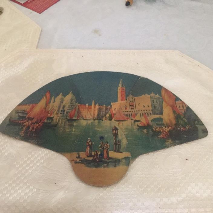 Antique promotional Fan Cardboard