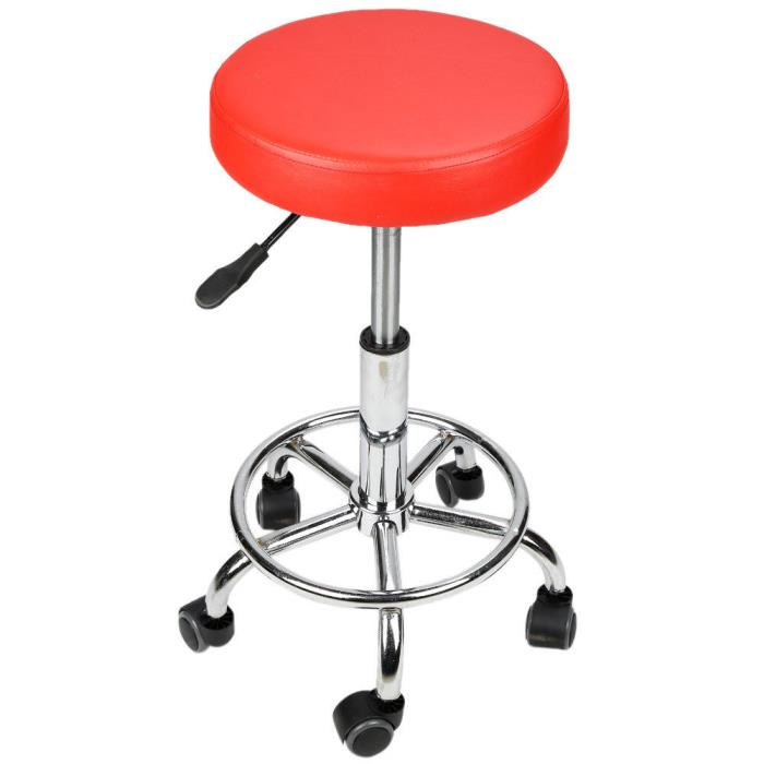 Adjustable Red Beauty Salon Stool Barber Rolling Chair Salon Stool