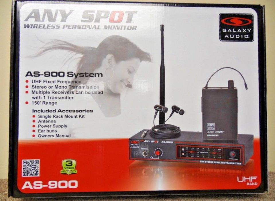 Galaxy Audio AS900K2 Wireless In-Ear Personal Monitor System NEW