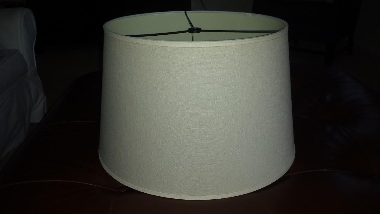 Pottery Barn Linen Tapered Drum Lamp Shade LARGE Beige EUC!