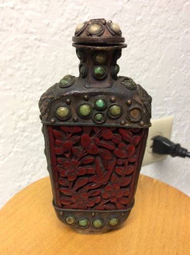 19th Century  RARE Antique Chinese Tiger Eye Snuff Bottle
