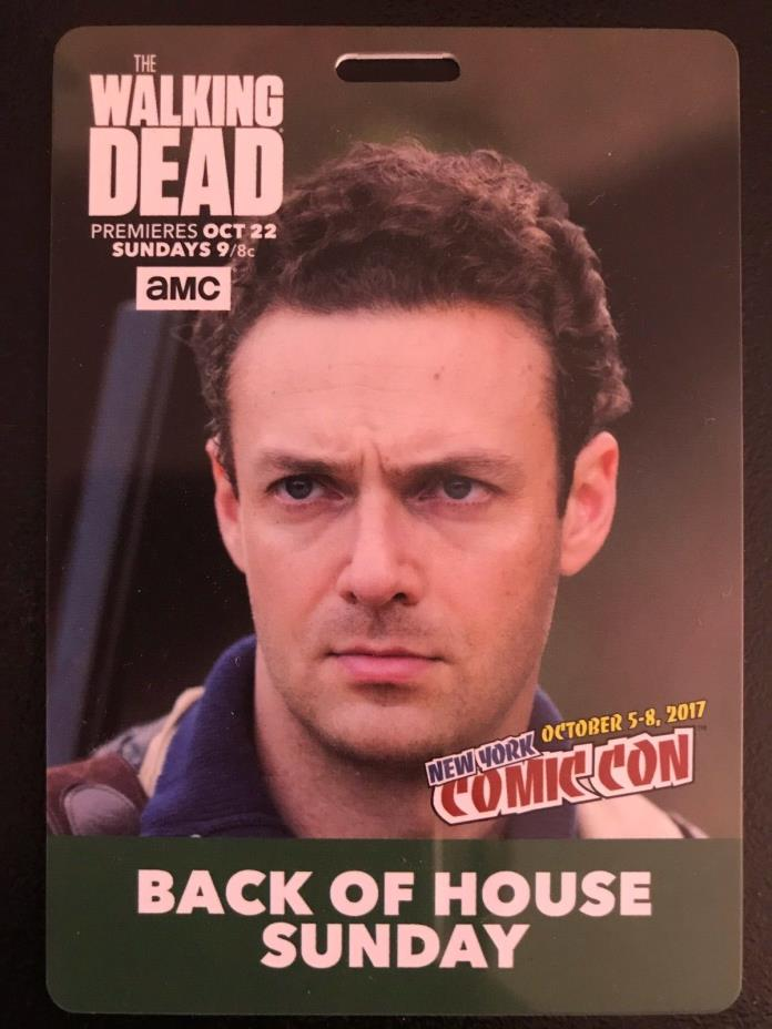NEW YORK COMIC CON~NYCC 2017 *THE WALKING DEAD* BACK OF HOUSE~AARON BADGE *NEW!