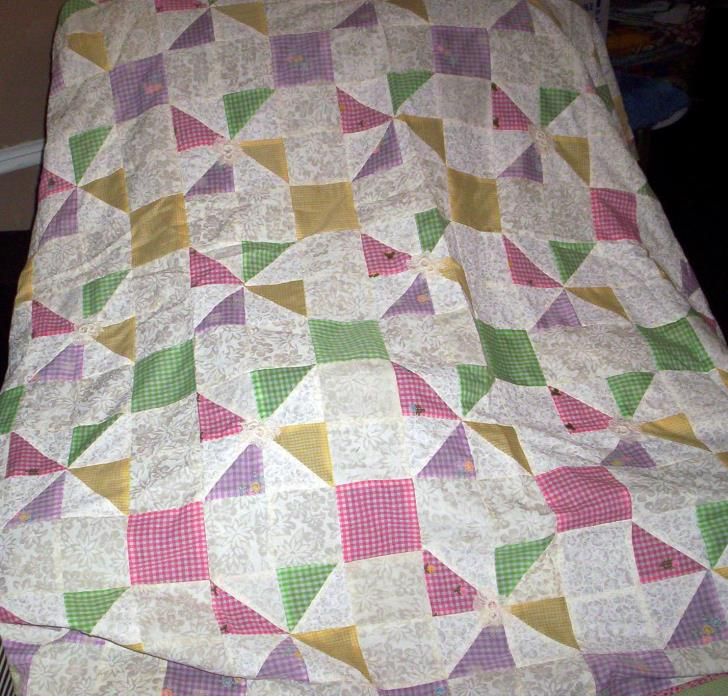 Homemade Quilt top Only 100% cotton  55