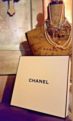 CHANEL Black & White Empty Signature Gift Box New!