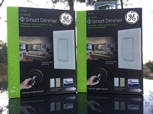 GE In-Wall EZ Smart Switch Z Wave Wireless Control 12724 Lot of 2 New