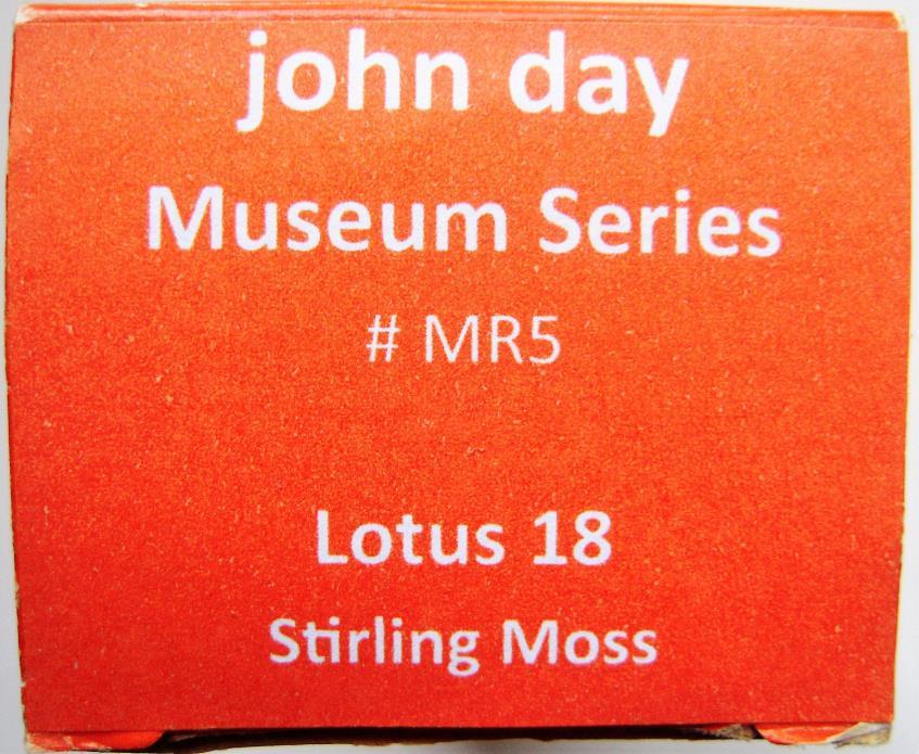 John Day Models - no.MR5 - 1/43 - 1961 Lotus 18 - S.Moss  - Monaco GP  F1 - Rare