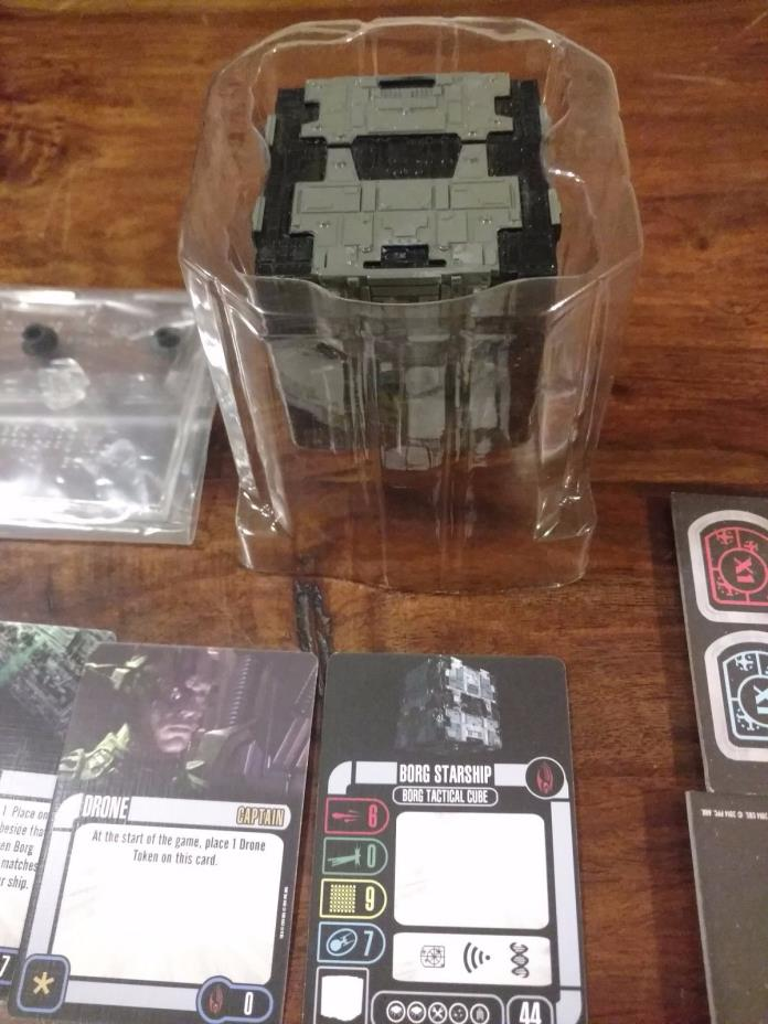 Star Trek Attack Wing Borg Tactical Cube 001 OP Grand Prize Ship Wizkids New