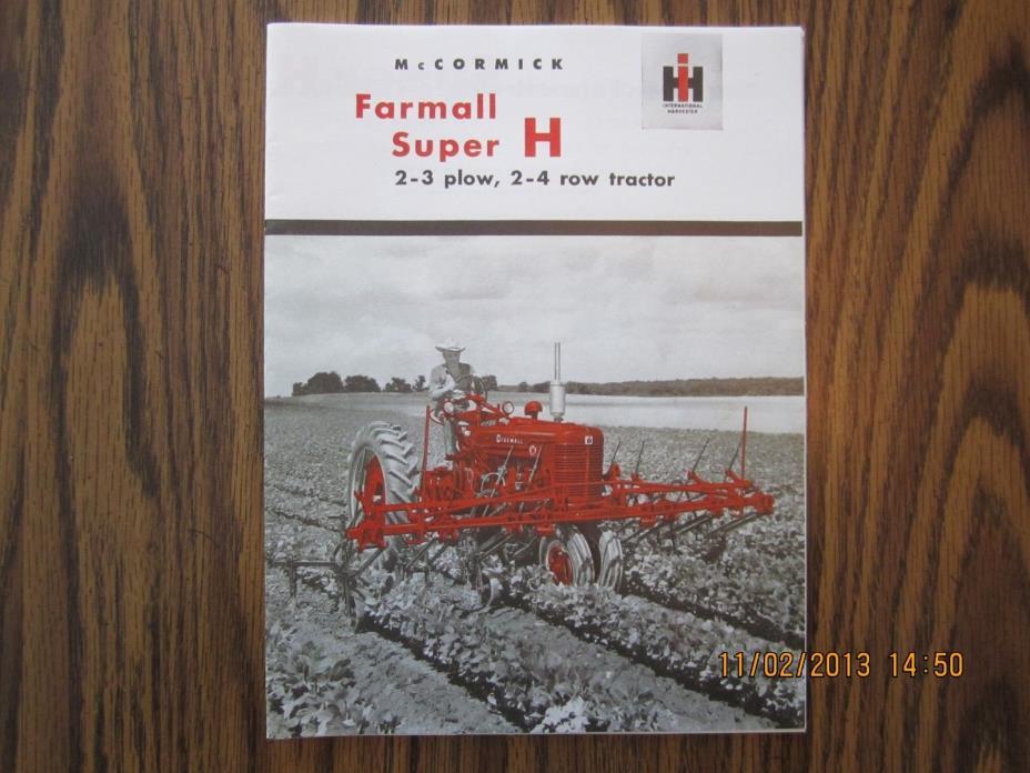 Farmall Super H Tractor Sales Catalog