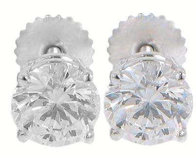 2.02 CT Round Cut Diamond Stud's Earrings 14 K
