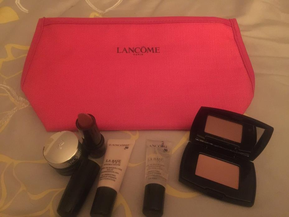 Lancome 6 - piece samplegifts with cosmetic pouch and Genifique eye cream - NEW!