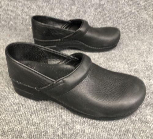 Dansko Men's Professional Clogs Shoes Black Leather Size EU 44  US 10.5 -11