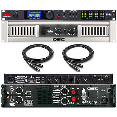 QSC GX7 Professional High Power Amp GX 7 with dbx Driverack PA2 Processor PA 2
