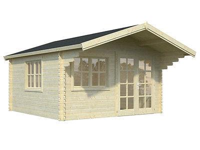 BZB Log Cabin Kit, Pool or Garden House, 12'3
