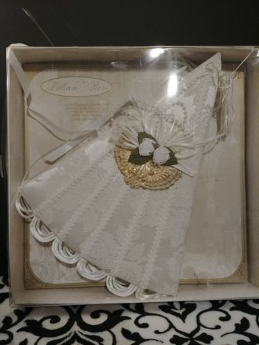 NIB Vintage Victorian Fan Signature Guest Wedding Guest Book By Lillian Rose