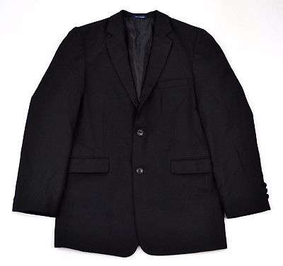 CHAPS Boys Handsome Black 2-Button Wool Blend Fully Lined Sportcoat Jacket ~ 18R