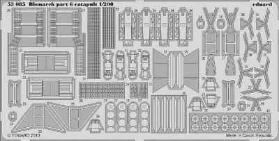 Eduard Models Bismarck Part 6 - Catapult Photo-Etch 8591437530854
