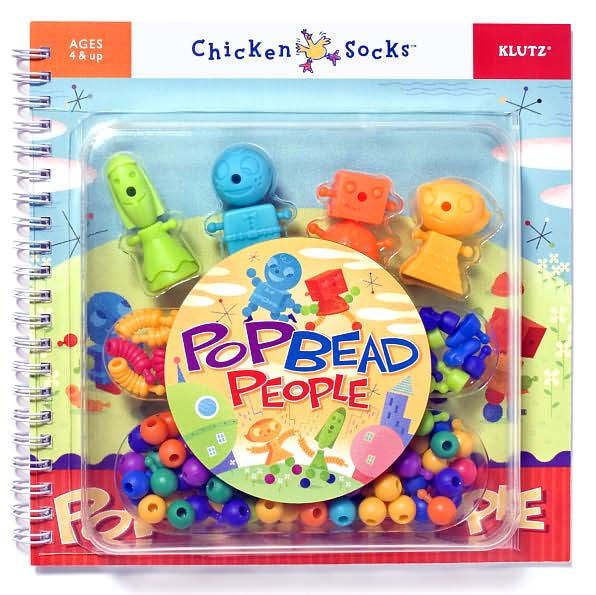 POP BEAD PEOPLE - CHICKEN SOCKS (KLUTZ) - BRAND NEW  (OUT OF PRINT / RARE)
